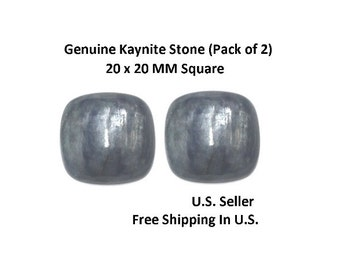 100% Natural Kaynite Cabochon 20 x 20 MM Square (Pack of 2)