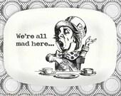 Mad Hatter melamine platter