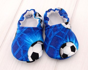 Toddler Boy Shoes - Soccer - Newborn Baby Shoes - Babys First Walking Shoes - Baby Boy Booties - 1427