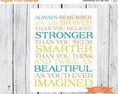 ONSALE Always remember...You Are Braver Printable PDF Any Size