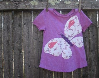 Sweet Butterfly Girls T shirt