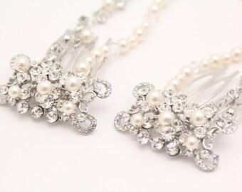Bridal headband,Bridal hair wreath,boho hair warp,Wedding hair accessories,Draped hair comb,Bronze hair chain,Wedding hair piece,Bridal comb