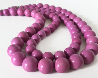 Radiant Orchid Jewelry, Purple Turquoise Necklace, Lilac Necklace, Purple Stone Necklace, Chunky Purple Necklace, Purple Statement Necklace