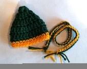 Christmas Elf, Elf Cap and Scarf, NFL, Elf Clothes, Elf, Green Bay, Elf Accessories, Elf Hat, Elf Cap, Doll Clothes