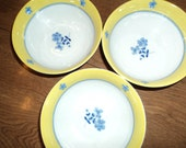 Three small bowls from China