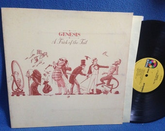 "Vintage, Genesis - ""A Trick Of The Tail"", Vinyl LP, Record Album Original 1976 Press, Dance Of The Volcano, Prog Psych Rock, Progressive Art"