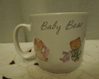 Vintage Baby Bear Children's Cup Hallmark 1988