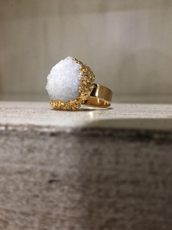 Druzy Quartz Ring