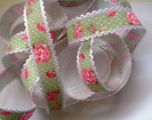 Angelique Ribbon Trim with Edge, Multi, 3/4 inch wide, 1 yard, For Home Decor, Scrapbook, Mixed Media, Accessories, Gifts