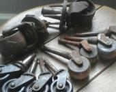 Cast iron casters , antique wood casters , antique casters , Antique Hardware