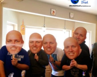 40th Birthday Big Head Pack Cutouts on a stick Make Your Own Today