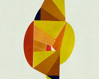 Abstract composition 776 - abstract geometric - minimalism - 60 x 84 cm - A1 - Limited edition