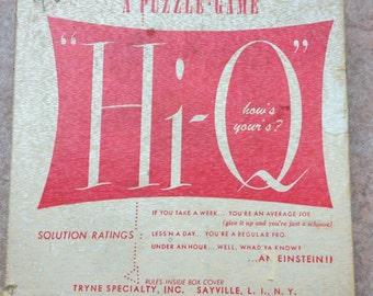 """Vintage 1950's """"Hi-Q"""" Peg Puzzle Game"""