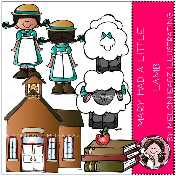 Mary had a Little Lamb clip art Combo Pack