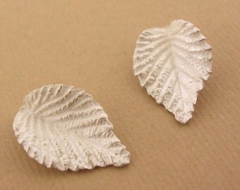 American elm leaf castings solid sterling silver unfinished earring component UL044-2