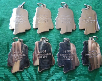 Vintage Disciples Pendants, Set of 8 Inscribed, Will Separate.
