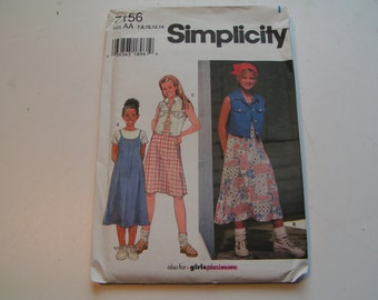 Simplicity Pattern 7156 Girl Plus Dress and Vest
