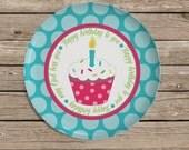 Birthday Plate, Childrens Personalized Melamine Plate, Monogrammed Plate, Birthday Gift, Easter, Christmas Gift, Baby Shower