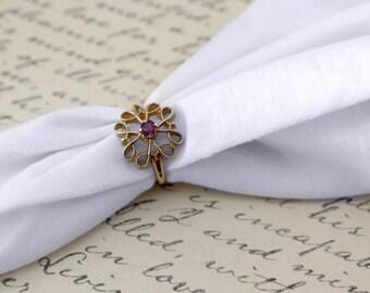 Avon Presidents Club Award Ruby Ring - Vintage 1978