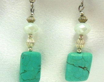 Biggest Sale Ever Turquoise and Silver Dangle Earrings