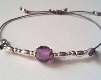 Silver and lilac circonite