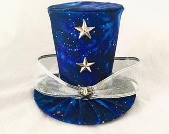 Tiny Top Hat: Galaxy - Lolita Cosplay Costume Party Fascinator fast shipping Prop Wedding Small Mini top hat Miniature little
