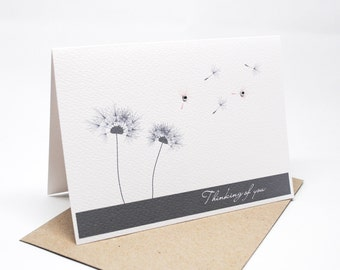 Thinking of You Card - Dandelions in the Wind - WDS015 - Sympathy Card
