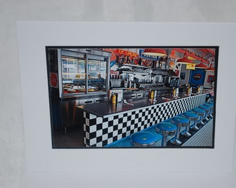 photo card, 50s diner, retro, Route 66