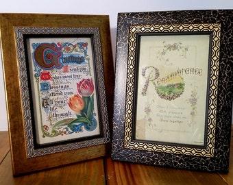 Vintage Greeting Cards in a Set of Frames