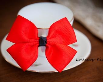 Red Bow Hair Clip Kids Hair Bow Girls Hair Bow Toddler Hair Bow Baby Hair Bow Birthday Party Hair Bow