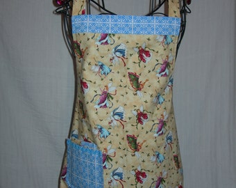 Christmas Reversible Apron in Holiday Angels and Snowflakes. All things Merry and Bright ...