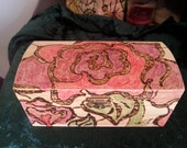 Roses Stained Glass Inspired Jewelry Box