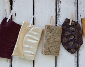 vintage Bridesmaid clutch purses vintage Prom handbags.gold or brown wedding purses