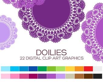 Lace Doily Clipart Lace Clip Art Vintage Clipart Wedding Clipart Valentine Clipart Digital Frame Digital Label Digital Border - A00173