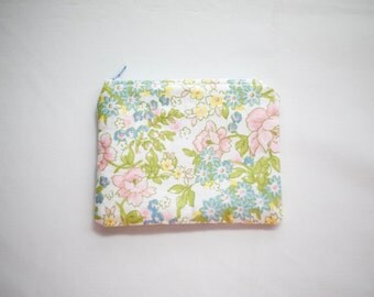 Pastel Florals Coin Purse