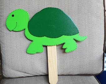 Turtle Wooden yard art stake sign