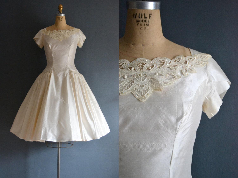 Lola 50s silk wedding dress vintage 1950s wedding dress