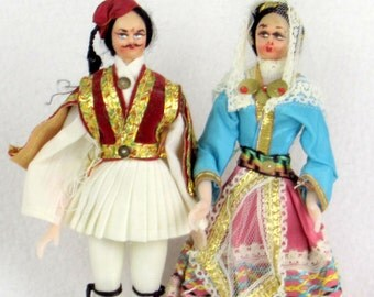 Middle Eastern Bride and Groom Dolls - Vintage Cultural - Global - World Ethnicities Collectibles