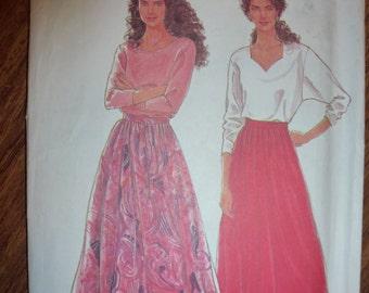 Vintage Simplicity Pattern 9818 Misses' SkirtS  Sizes 10-20