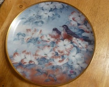 Robins in Dogwood plate by J Cheng and Franklin Mint
