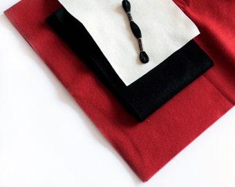FOX MAKING BUNDLE - Wool Felt kit - To make a wool felt El Zorro Fox - Buy Just the right amount