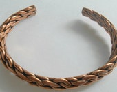 Vintage Bracelet Twisted Copper Cuff