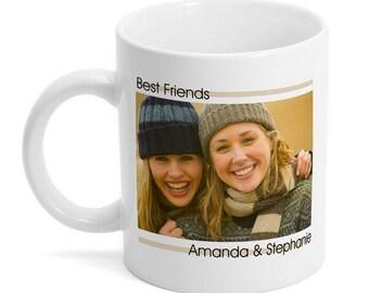 Customized Best Friends Photo Mug