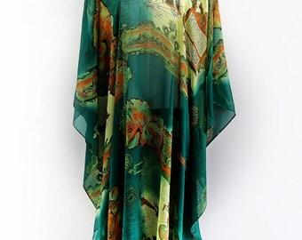 Old Wayfarers Pure Silk Full Length Kaftan by LaMolli