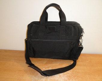 Vtg Black Ballistic Nylon TUMI Expandable Briefcase Attache Shoulder Laptop Bag