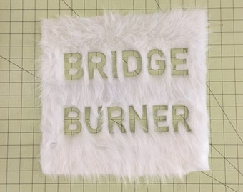 Vegan Faux Fur Bridge Burner Patch