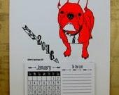 2016 Calendar - Fluorescent Frenchie, Letterpress Printed