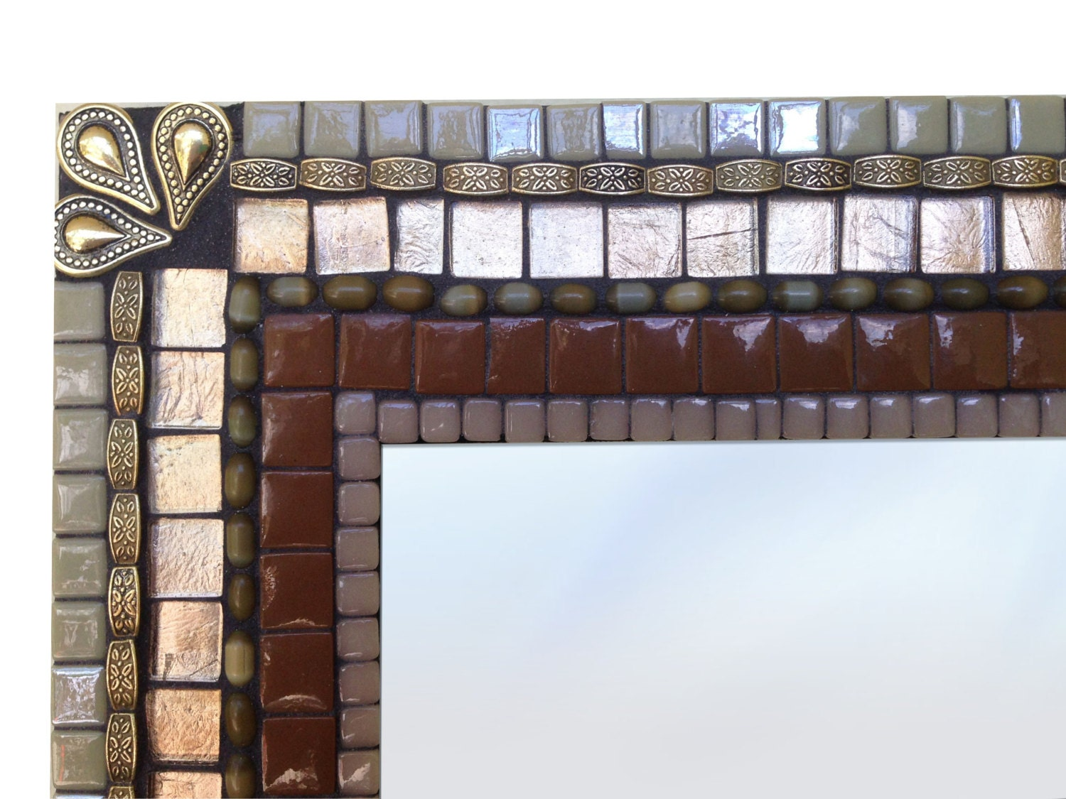 Brown And Copper Mosaic Wall Mirror Sale