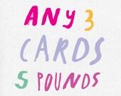 Wählen Sie alle 3 Karten
