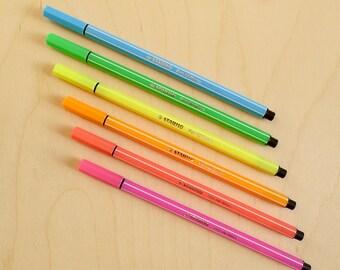 Stabilo Pen 68 Neon Pen x6